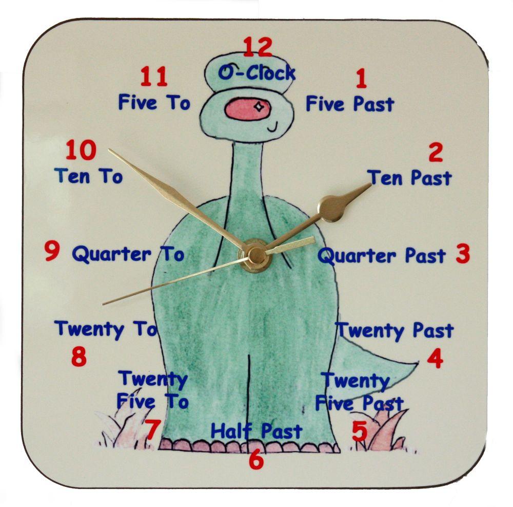 Dinosaur Clock for Teaching the Time