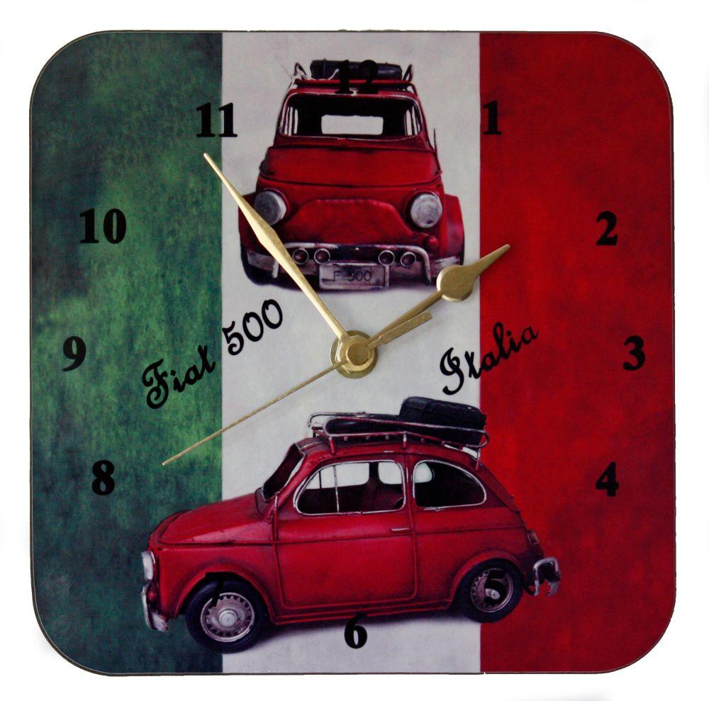 Fiat 500 on Italian Flag