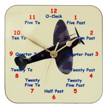 Spitfire clock for Learning to tell the Time
