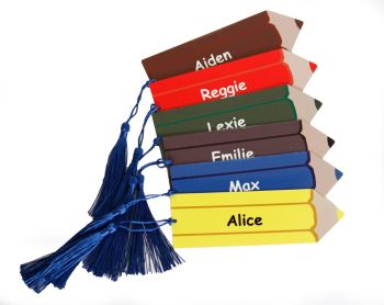 Personalised Pencil or Coloured Pencil Bookmark
