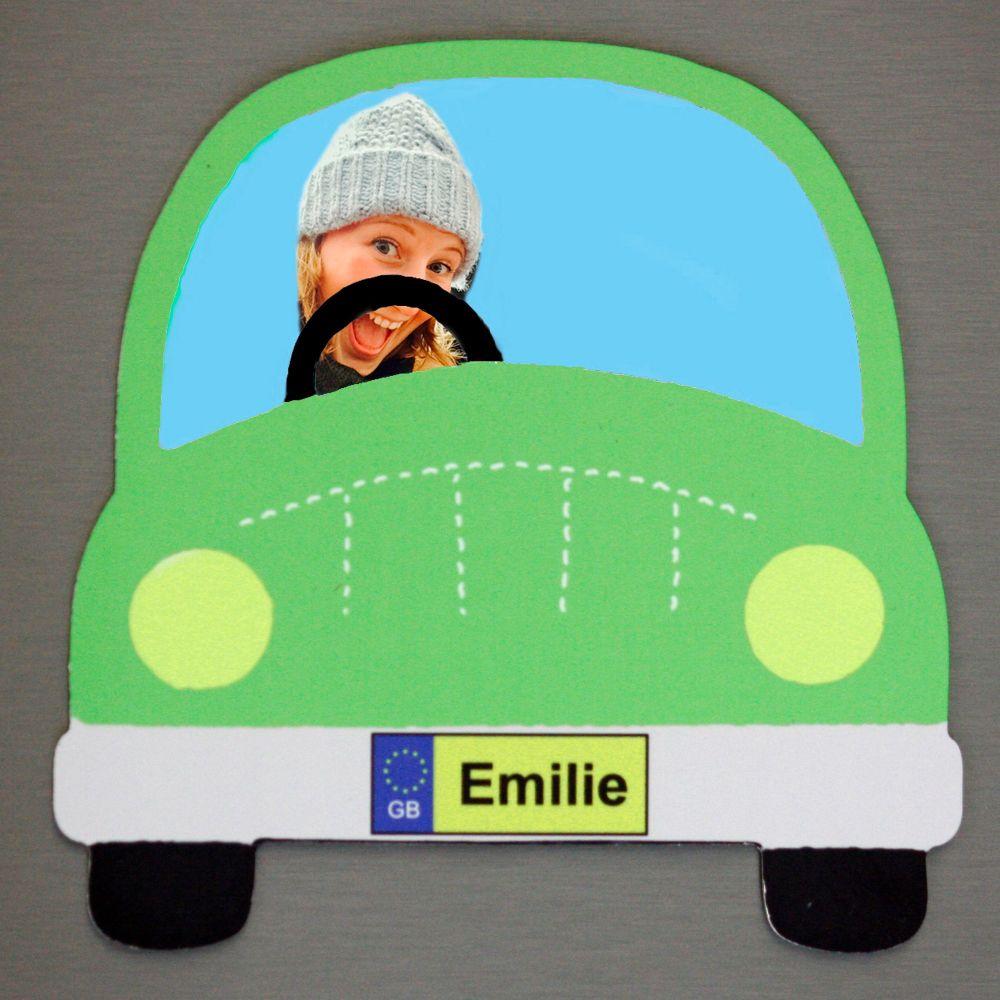 Green Car - Passenger and Name