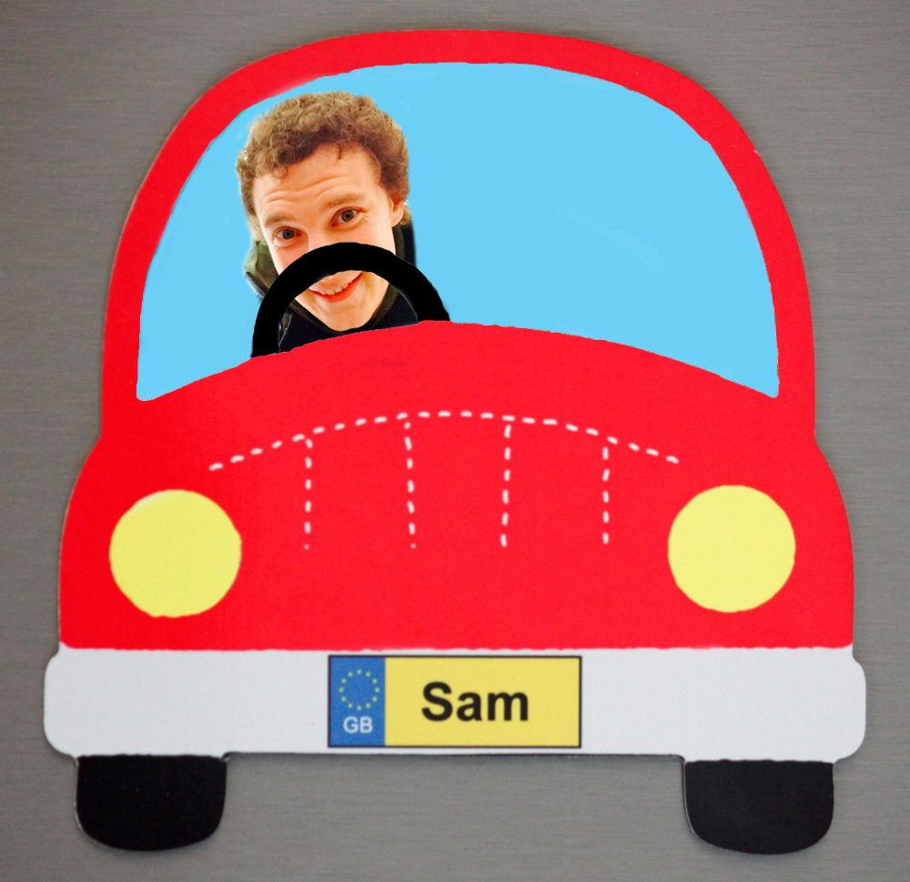 Red Car - Passenger and Name