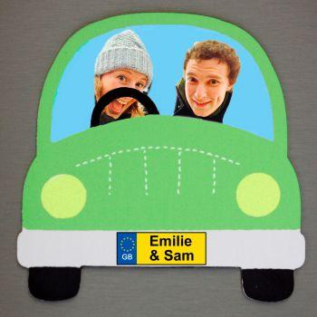 Green Car - Driver, Passenger and Name(s)