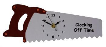 Hand Saw Wall Clock