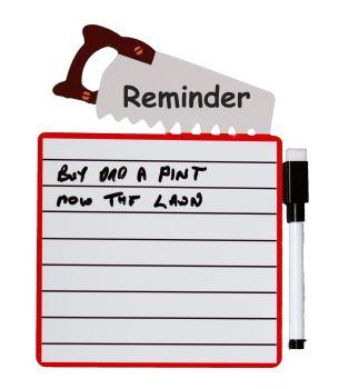 Fridge Magnet Dry Wipe Board - Reminder List (Sent Post Fee)