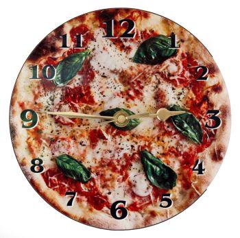Pizza Wall Clock - Margherita No Text