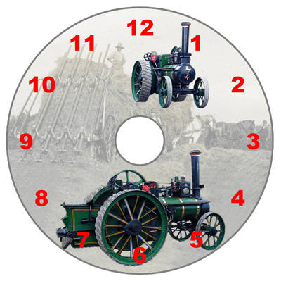 Steam Traction Engine - Numeric Dial