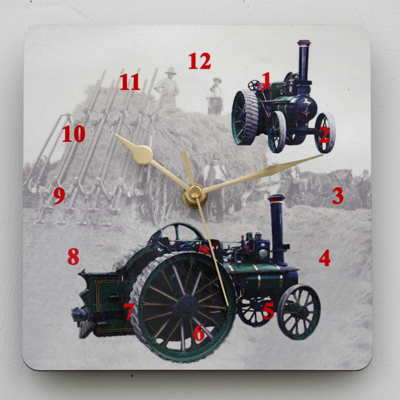 Steam Traction Engine - Square Clock