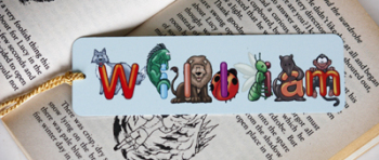 Personalised Book Mark (Animals)