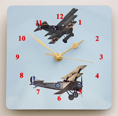 WW1 Flying Aces - Square Clock