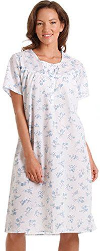 Short sleeved nightdress - blue