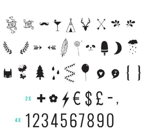 Lightbox letter set - Numbers & Symbols - (pre order - early January delive