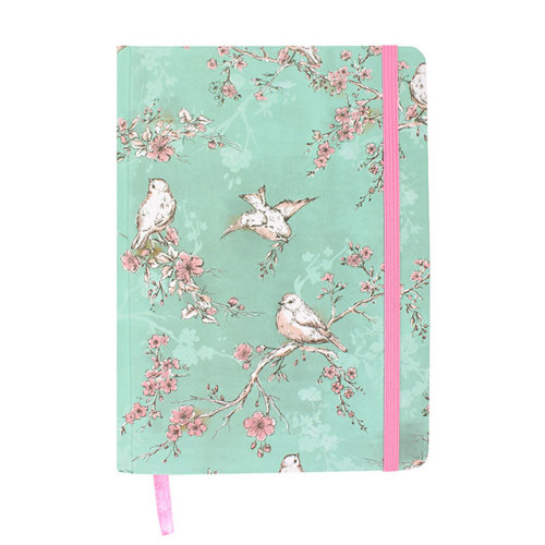 Luxury A6 notebook - Birds and Blossom