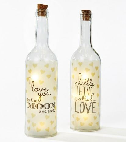 Heart design LED light bottle