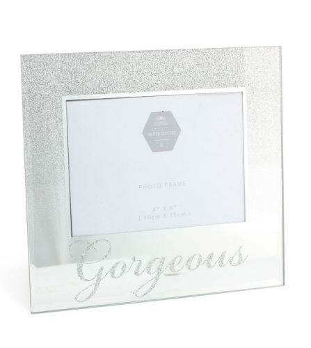 Glitter photo frame - Gorgeous
