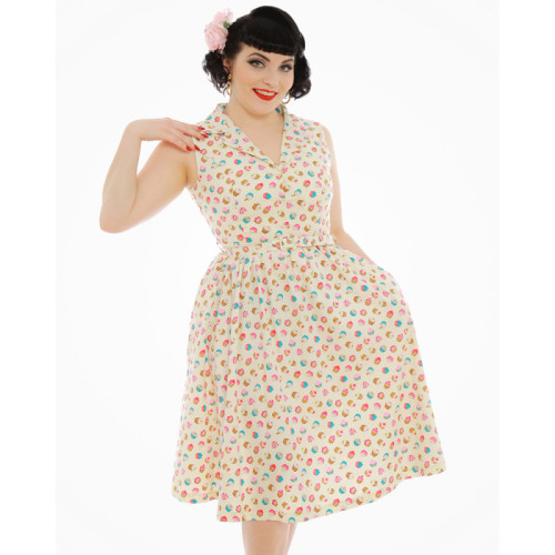 Vintage style 'Molly' cupcake print dress