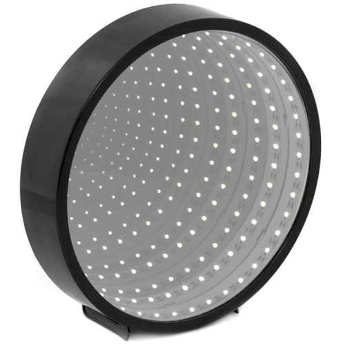 Infinity mirror LED light - circle - black (pre-order for early February di