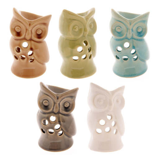 Ceramic mini owl burner