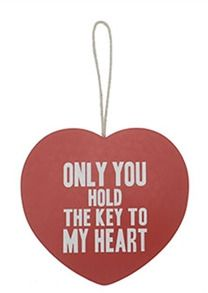 'Key to my heart' plaque
