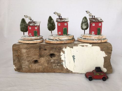 Christmas house, Handmade Christmas, Winter Wonderland, Recycled Art, Littl