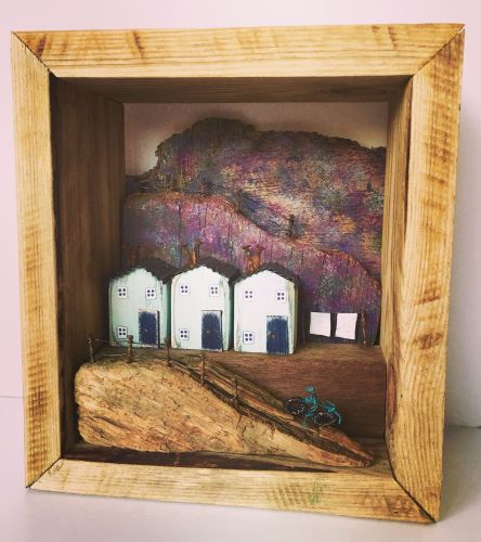 Driftwood Art* Driftwood Sculpture* Recycled Wood Art* Little wooden houses