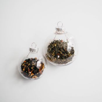 Clear Glass Spice Baubles