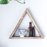 Triangle Wooden Shelf