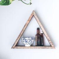 Triangle Wooden Shelf
