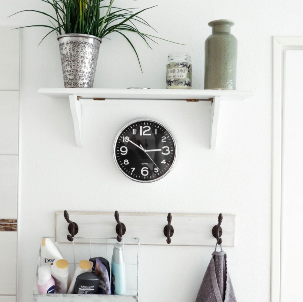 Retro Black Wall Clock