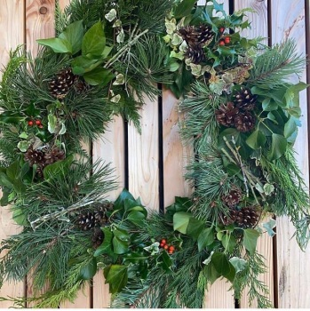 Festive foliage wreath