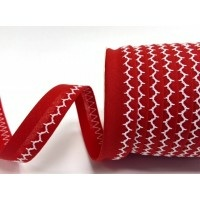 red and white zigzag stitched bias binding