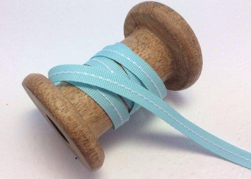 9mm center stitch ribbon - aqua