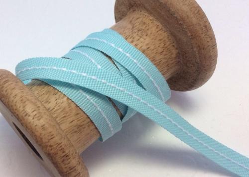 Aqua center stitch ribbon