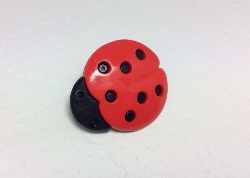 Large ladybug button