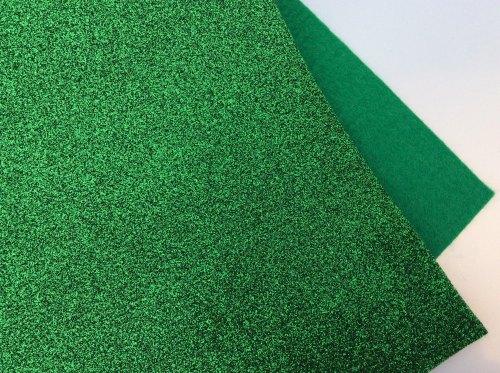 Emerald glitter felt