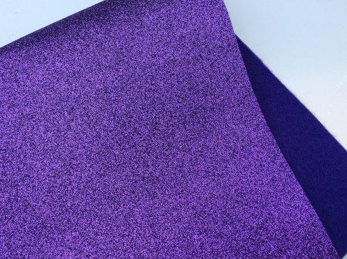 Violet glitter felt