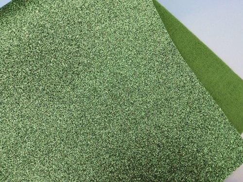 Lime glitter felt