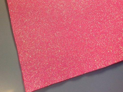 Raspberry soda glitter felt