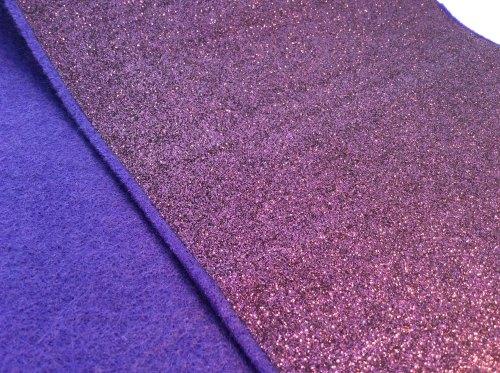 Damson glitter felt