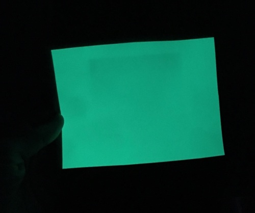 Glow in the dark felt