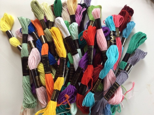 bumper bundle of 36 embroidery threads