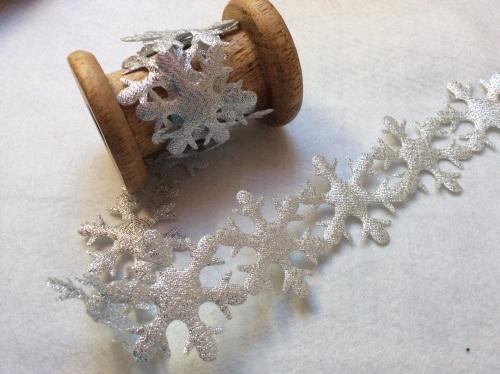 Jumbo silver snowflake trim
