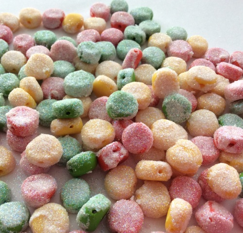 Sugared gumdrop buttons
