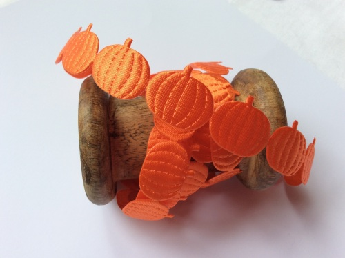 Pumpkin satin die cut ribbon