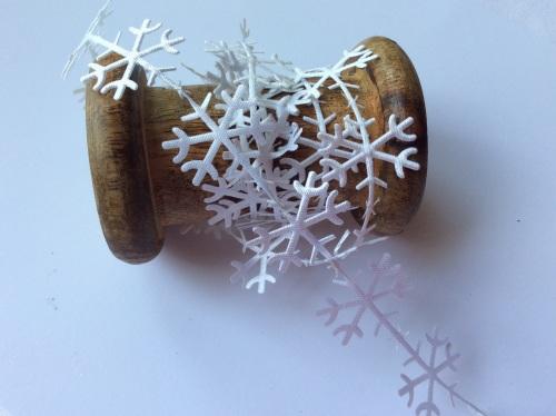 25mm white snowflake trim
