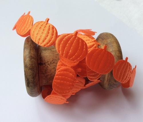 Pumpkin satin die cut ribbon
