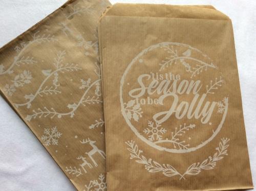 Printed Kraft paper bags 7x9