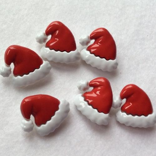 Santa Hat buttons