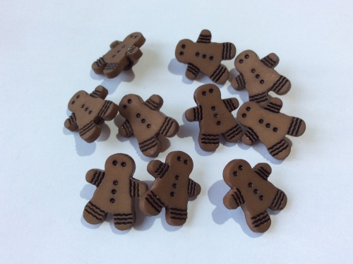Gingerbread man buttons