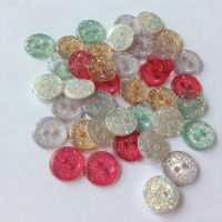 13mm Glitter buttons